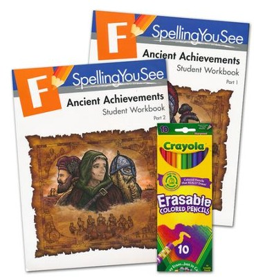 Spelling You See Level F: Ancient Achievements Student Pack   -
