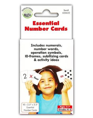 Essential Number Cards, Grades K-2  -