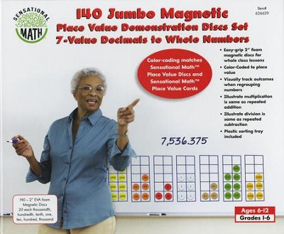 7-Value Jumbo Magnetic Place Value Demonstration Discs Set  -