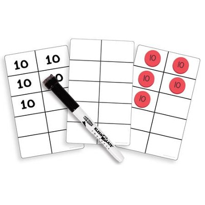 Write-on/Wipe-Off Ten Frame Cards  -
