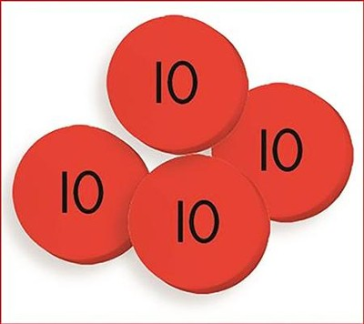 100 Tens (10) Place Value Discs Set  -