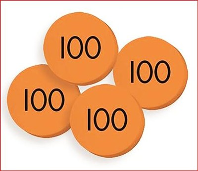 100 Hundreds (100) Place Value Discs Set  -