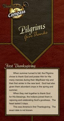 Pilgrims Give Thanks Compass (Student Handout; Thanksgiving)  -