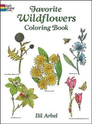 Favorite Wildflowers Coloring Book  -     By: Llil Arbel