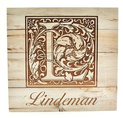 Personalized, Wooden Box Sign, with Monogram   -