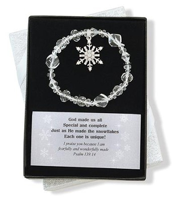 Snowflake Bracelet, God Made Us All  -