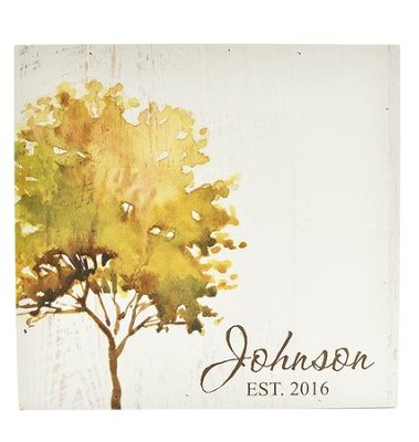Personalized, Wooden Box Sign, with Tree, Family    -