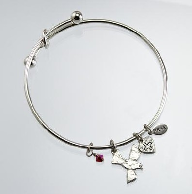 Confirmation Bangle Bracelet, Silver  -