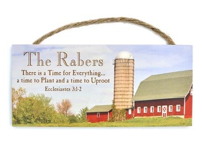 Personalized, Hanging Sign, Farm, Esslesiastes 3:1-2   -