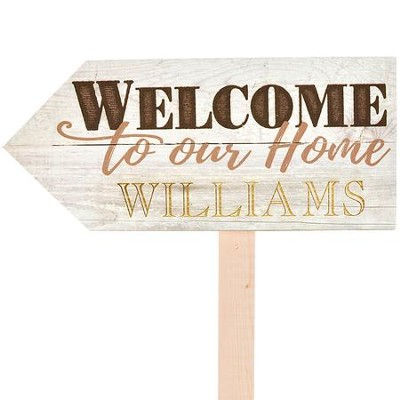 Personalized, Yard Sign, Welcome   -