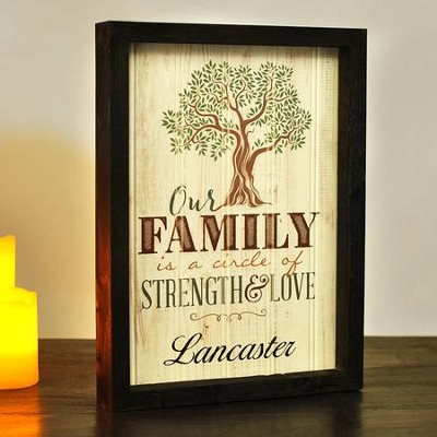 Personalized, Framed Plaque Sign, Our Family   -