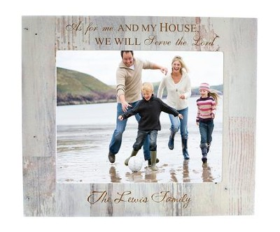 Personalized 8x10 Photo Frame As For Me And My House White