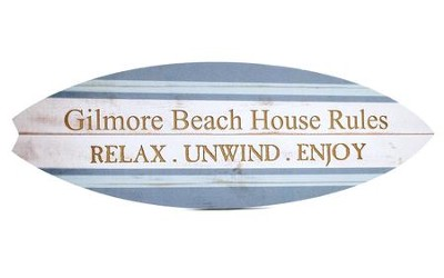 Personalized, Surboard Sign, Beach House Rules   -