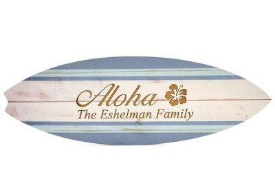 Personalized, Surfboard Sign, Aloha   -