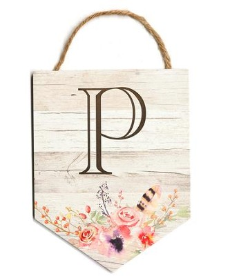 Personalized, Monogrammed Hanging Sign, Floral   -