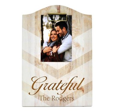 Personalized, Chevron Clipboard, Grateful   -