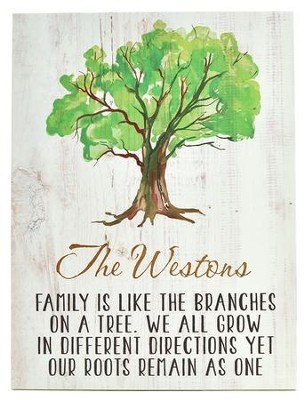 Personalized, Plaque, Family Tree, Large   -