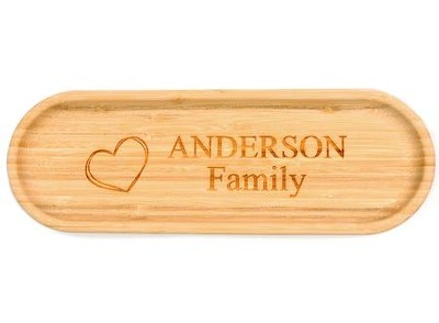 Personalized, Bamboo Tray with Family Name, Long   -