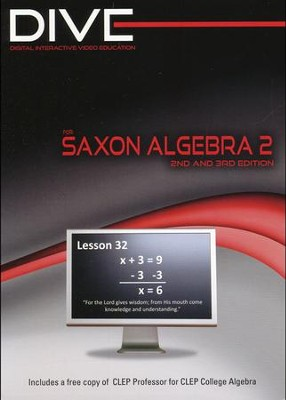 DIVE CD-Rom for Saxon Math Algebra 2 2nd & 3rd Edition     -