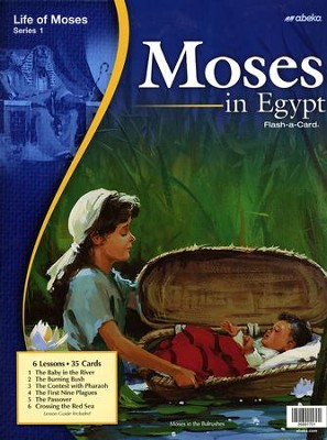Abeka Moses in Egypt Flash-a-Card   -