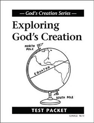 Exploring God's Creation Test, Grade 3    -     By: Homeschool