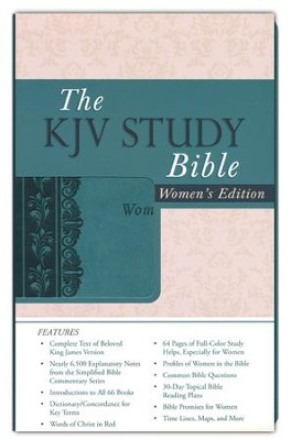 KJV Study Bible: Women's Edition - leather-look, teal  -