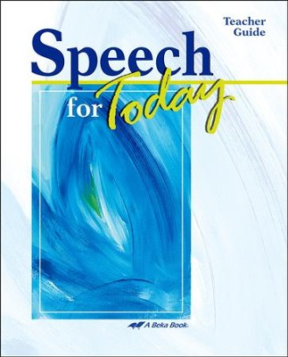 Abeka Speech for Today Teacher Guide   -