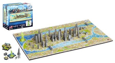 4D Mini Cityscape Puzzle, New York  -