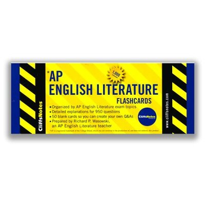 CliffsNotes AP English Literature Flashcards  -     By: Richard P. Wasowski