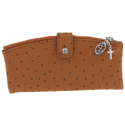 Ultimate Wallet with Cross Charm, Brown  -