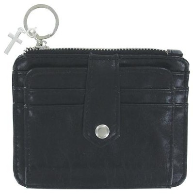 ID Wallet with Cross Charm, Black  -