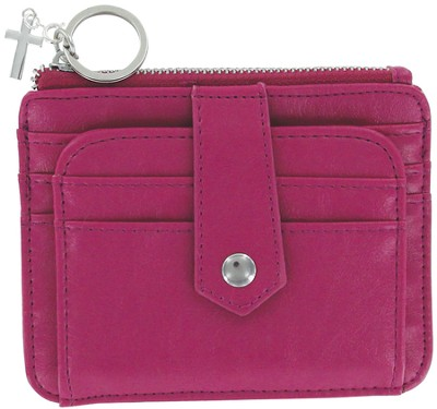 ID Wallet with Cross Charm, Pink  -