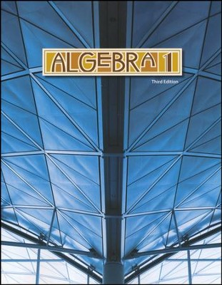 BJU Algebra 1 Student Text, Third Edition   -