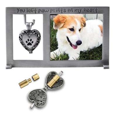 You Left Paw Prints On My Heart, Memorial Photo Frame ...