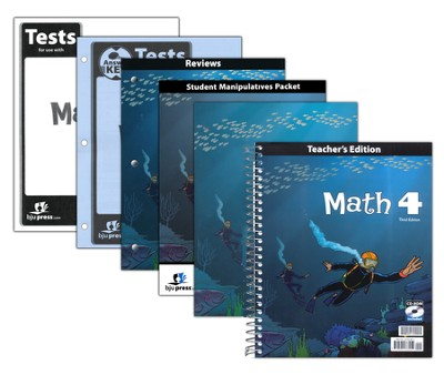 BJU Math Grade 4 Homeschool Kit (Third Edition)    -