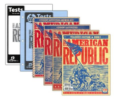 BJU Heritage Studies: The American Republic Grade 8 Homeschool Kit Third Edition  -