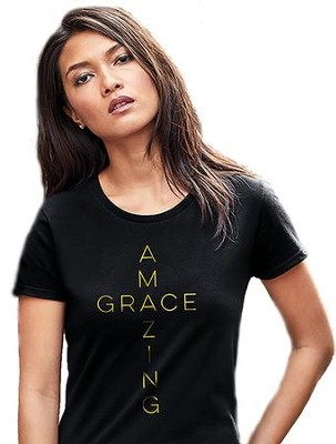Amazing Grace Shirt, Black, X-Large  -