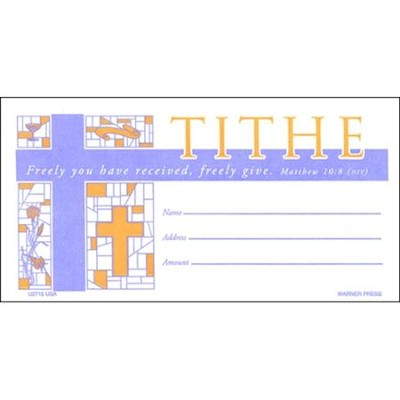Tithe Envelopes, Pack of 100, Bill size  -