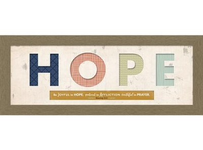 Hope Cut-Out, Romans 12:12, Framed Art  -
