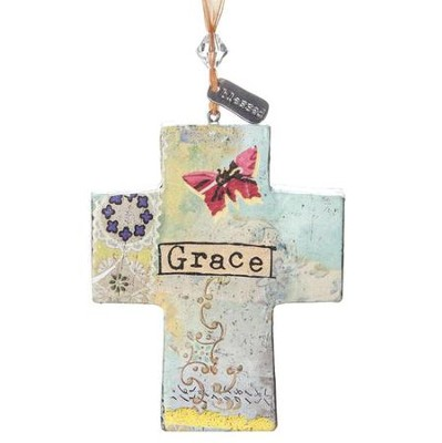 Grace Cross Ornament  -     By: Kelly Rae Roberts