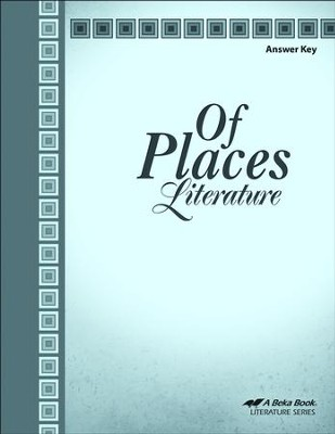 Of Places: Literature Grade 8 Answer Key   -