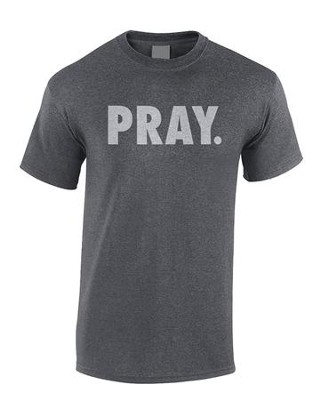 Pray Shirt, Gray, Medium  -