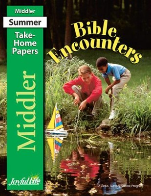 Bible Encounters Middler (Grades 3-4) Take-Home Papers   -