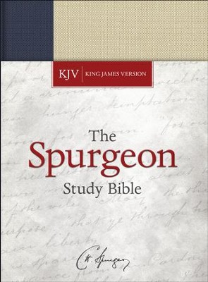 KJV Spurgeon Study Bible, navy/tan cloth over board  -     By: Alistair Begg