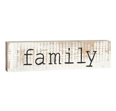Family, Stick Plaque, Small  -