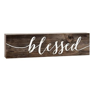 Blessed, Stick Plaque, Small  -