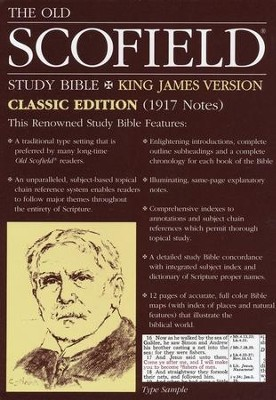 Old Scofield Study Bible Classic Edition, KJV, Genuine Leather  burgundy Thumb-Indexed  -