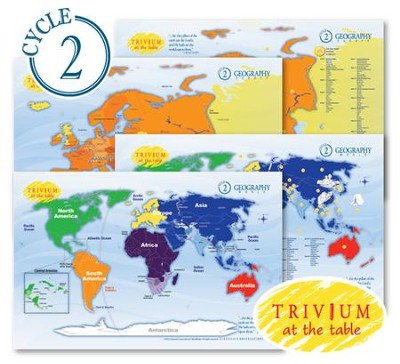 Trivium at the Table Cycle 2 Placemats Set (4 Placemats)  -