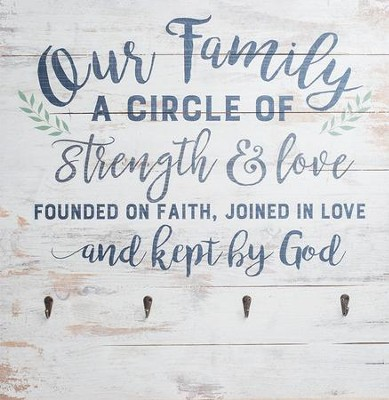 Our Family Is A Circle Of Strength Pallet Art With Hooks