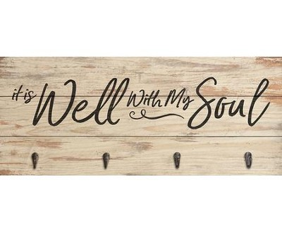 It Is Well With My Soul, Pallet Art with Hooks     -